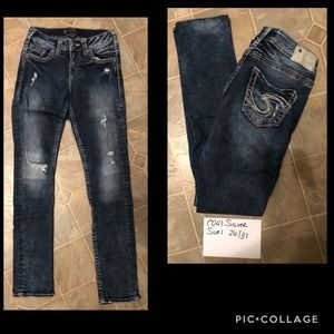 Silver Suki Jeans